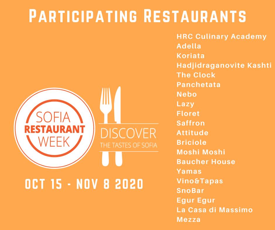 RW 2020 Sofia and Varna participating restaurants